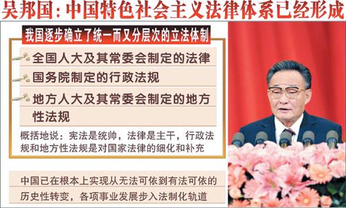 中国特色法律体系形成