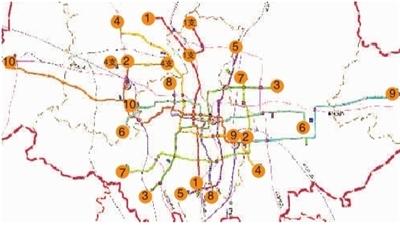 长沙2030年地铁远景规划由12条(含2条支线)线路构成.