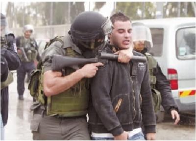 5月15日,在耶路撒冷附近的约旦河西岸巴勒斯坦难民营,以色列边防