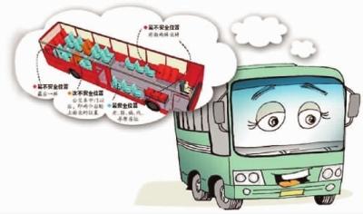 公交车上哪些座位最安全