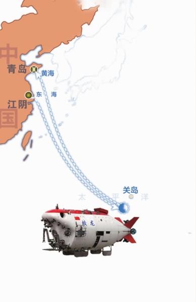 """""""蛟龙""""入深海 直奔世界纪录"""