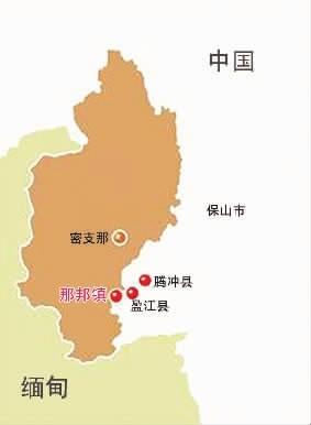 克钦地图中文版
