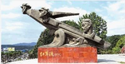 苍溪红军渡雕塑.斑竹摄