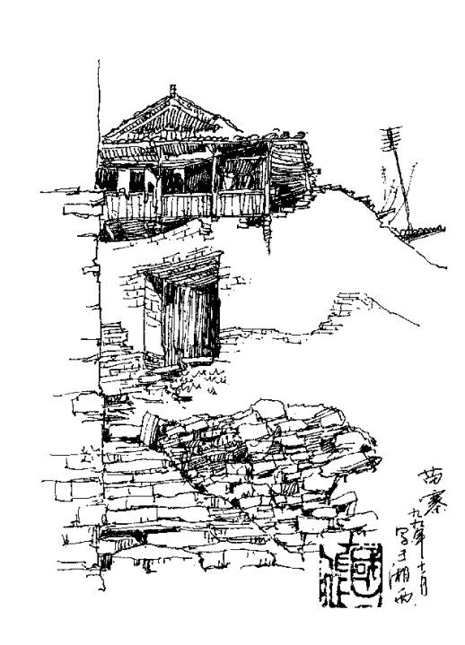 长沙理工大学老师手绘乡村20年 再现湖南古村落历史