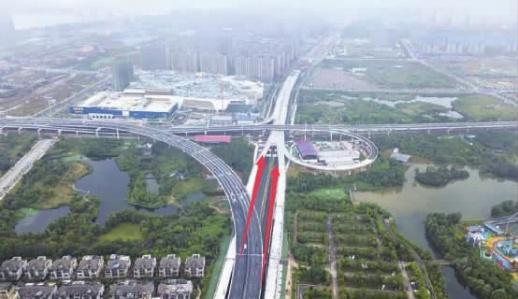 湘府路快改河西段预计9月底完工